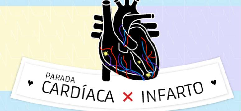 parada cardíaca e infarto