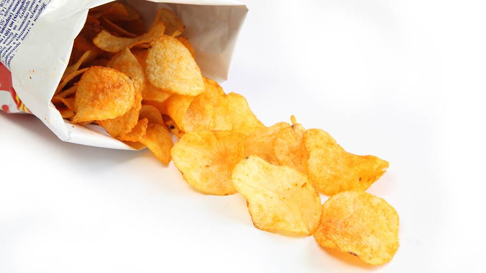 batata chips gordura trans