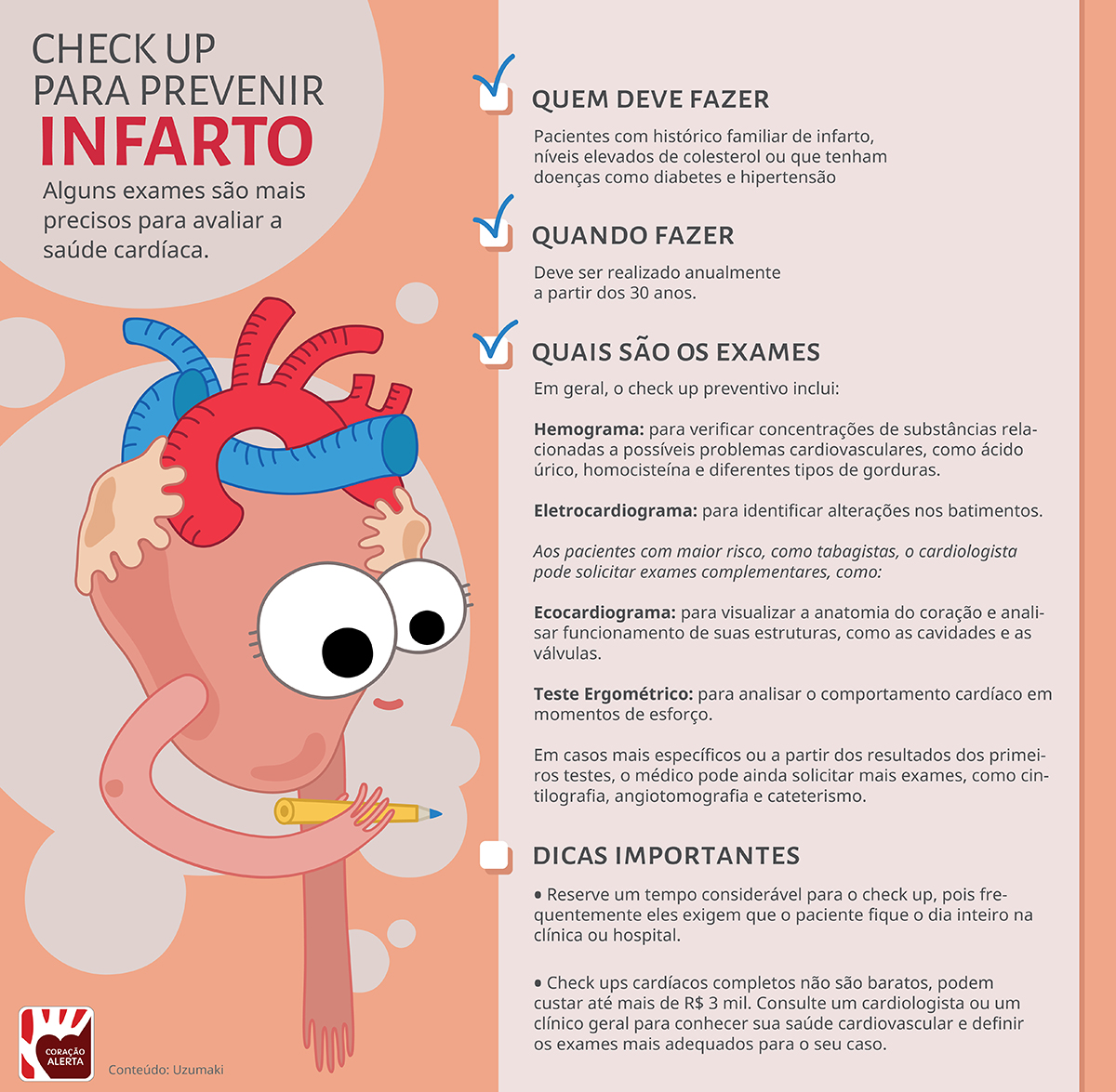 infografico check up prevencao